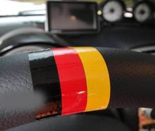 Car-Styling Steering wheel sticker German flag Volkswagen skoda octavia benz passat b5 vw golf 4 5 6 7 tiguan polo Jetta - Auto Parts Group store