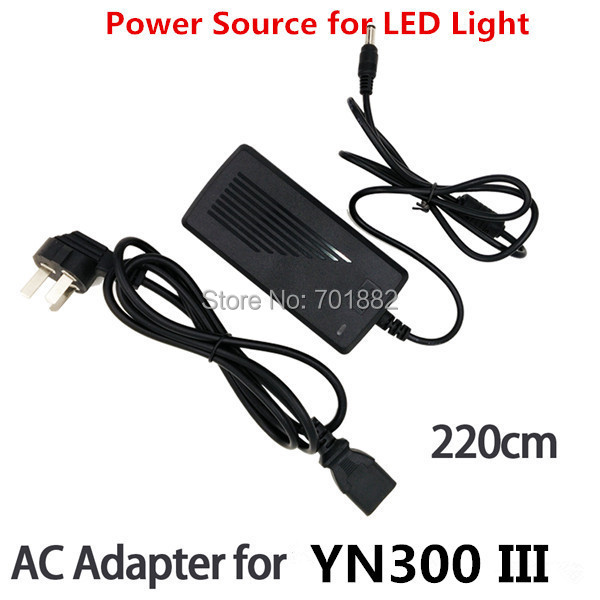 AC Adapter Power Switching Charger DC Output for Yongnuo YN900 YN900II YN-300 III Led Video Light 2.2m Long Power Cable<br><br>Aliexpress