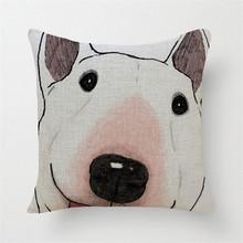 European Dog Printed Signature Throw Pillows