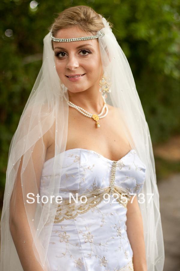 Бесплатная доставка горячей продажи низкая цена однослойных белый/бежевый фата/вуаль венчания/свадебные аксессуары принцесса 3 М