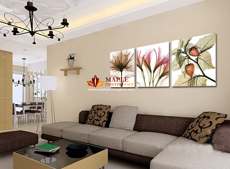 Peinture mur salon moderne - Decoration murale moderne salon ...