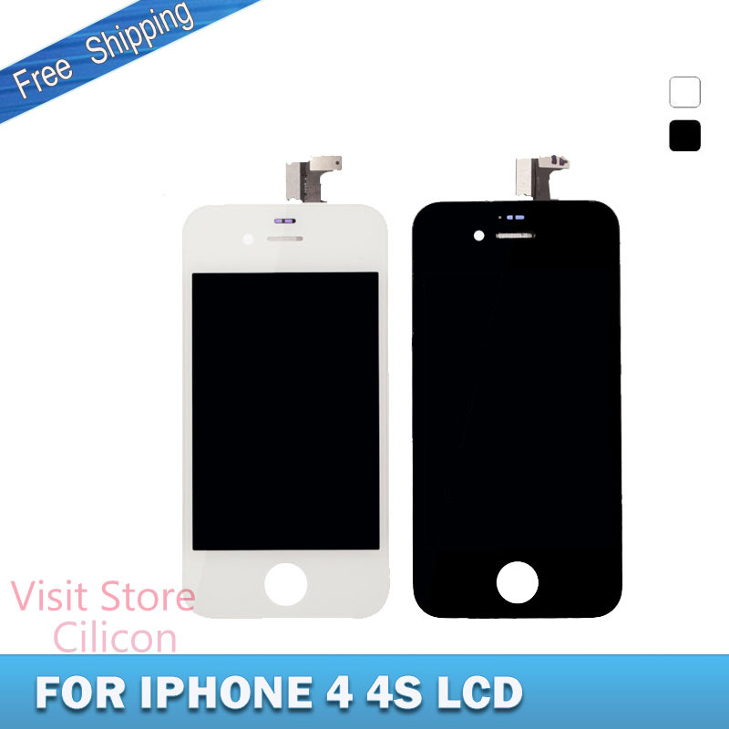 White or black LCD Display Digitizer,Touch Screen Digitizer Assembly Replacement for IPhone4/4s 3.5'+Tool(China (Mainland))