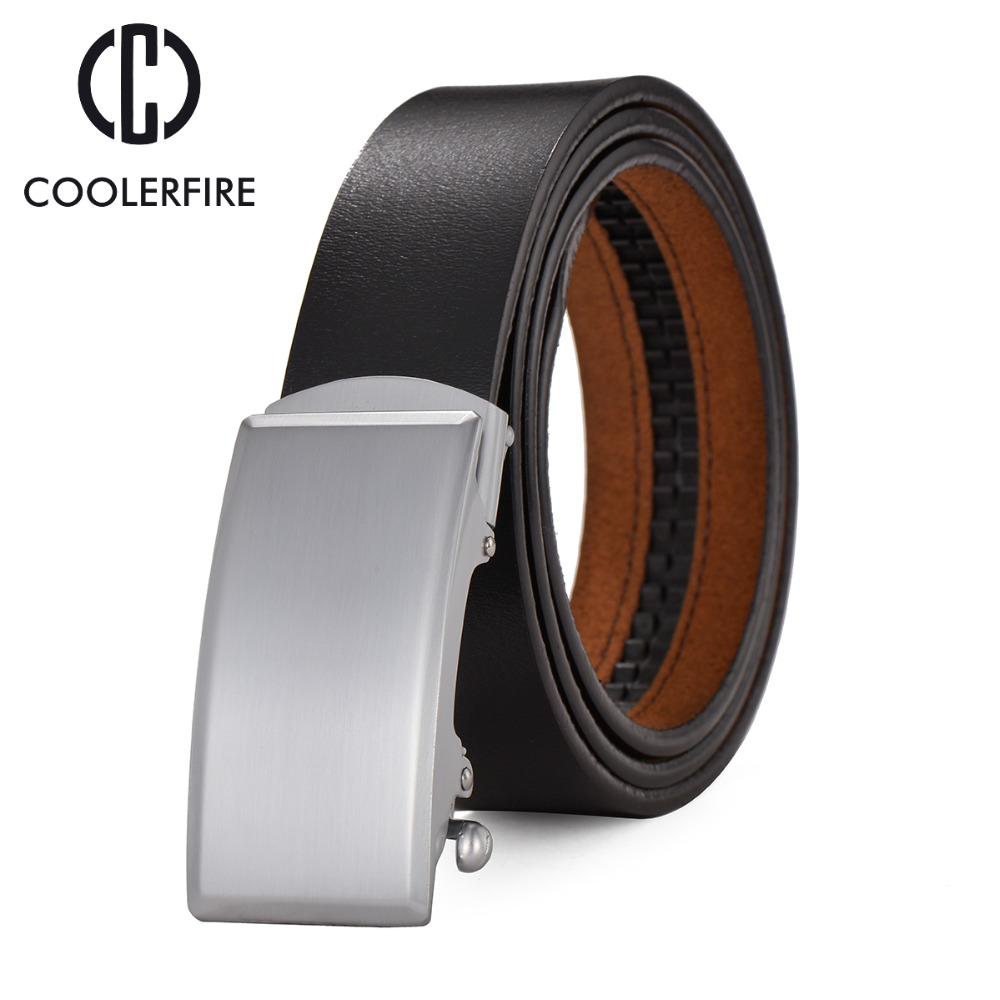 Name Brand Business Belts For Men Luxury Genuine Leather Belt Fashion Design Leather Strap Male Automatic Buckle Belt ZD011(China (Mainland))