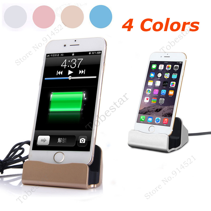 4 Colors Original Charger+Sync Dock Stand Station Charging Desktop For iPhone 5/5S 6/6S 7 Plus With Retail Box(China (Mainland))