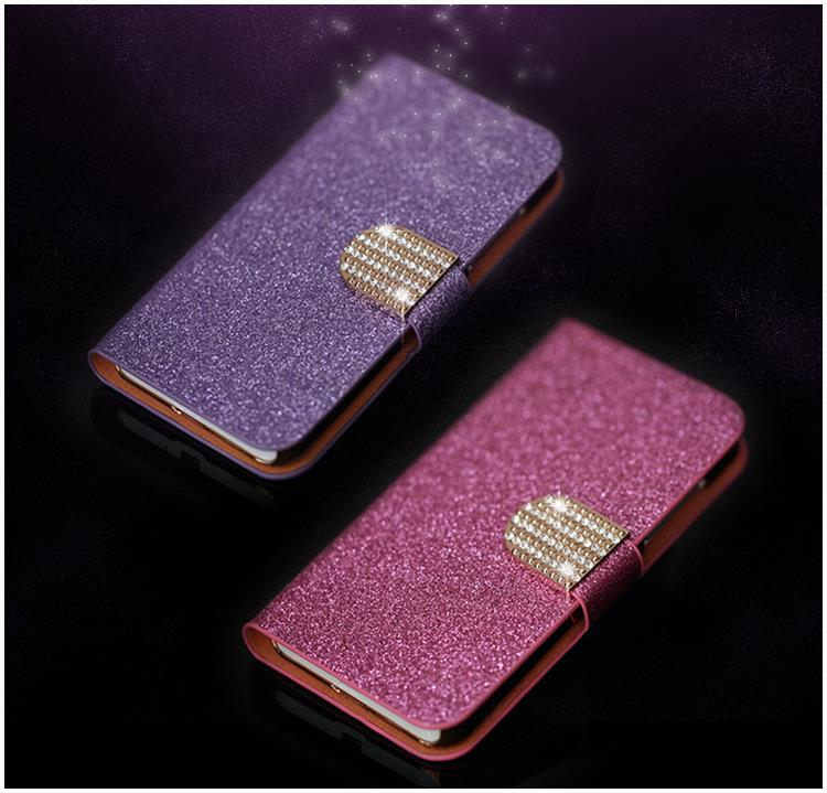 Luxury Glitter Diamond PU Leather Case Sony Xperia M C1905 Cover Flip Buckle Stand Card Holder - Shenzhen TGD Technology Co.,Ltd. store