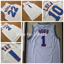 New Arrival !!! Space Jam Jersey, Space Jam #1 Bugs Bunny Basketball Jersey Tune Squad LOONEY TOONES Basketball Jerseys