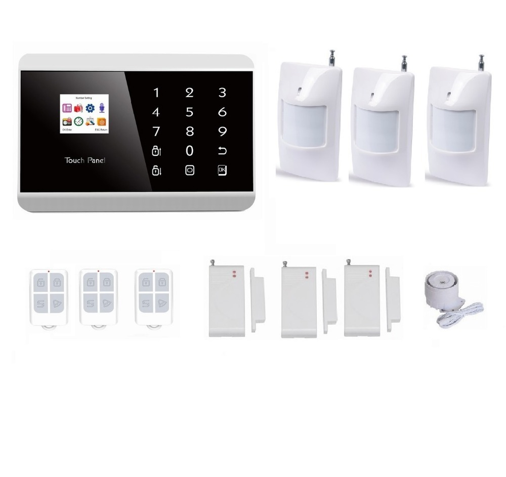 IOS/ apps android GSM pstn SMS home security Burglar Alarm System Detector Sensor Remote Control siren alarm(China (Mainland))