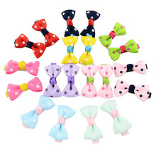 Buy Children hand stitching headwear hairpin bowknot hairpin baby infant milk hair clip head flower girls hair ribbon 20pcs/ butterf for $2.93 in AliExpress store