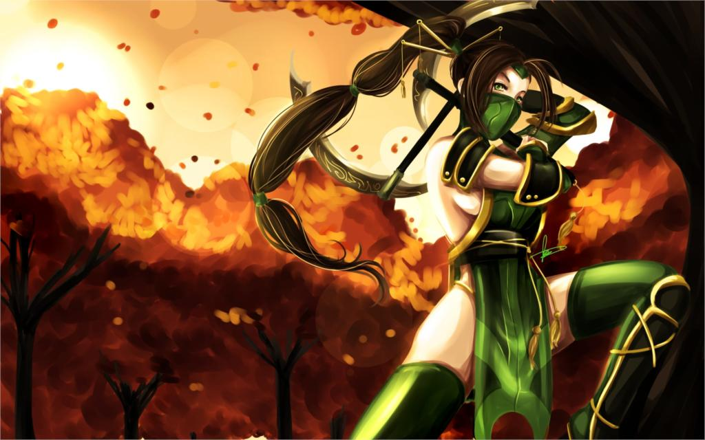 Game league of legends akali game girl eyes hair long costume 4 Sizes Silk Fabric Canvas Poster Print(China (Mainland))