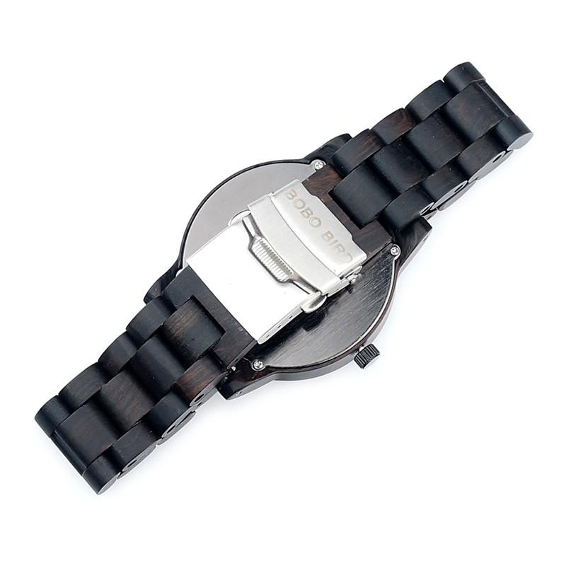 BOBO BIRD M04 Genuine Brand Designer Watches for Men Women Ebony Wooden Quartz Watch Wood Band Fashion Wristwatches Customize