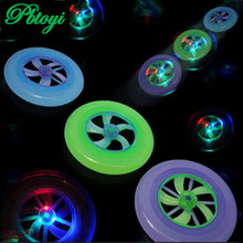 Stall selling luminous flash toys flying saucer frisbee leisure tradition light toy 6pcs/set(China (Mainland))