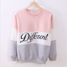New Letter Printed Women Pullover Tops Sweat Shirt Blouse Sweater Thick Tracksuits Sudaderas Y8(China (Mainland))