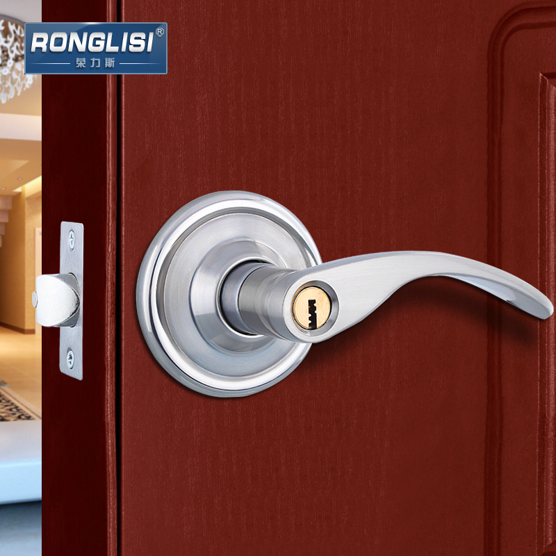 Wing Tai Ball Home Interior Bedroom Door Lock Handle Lock Stainless Steel Cop