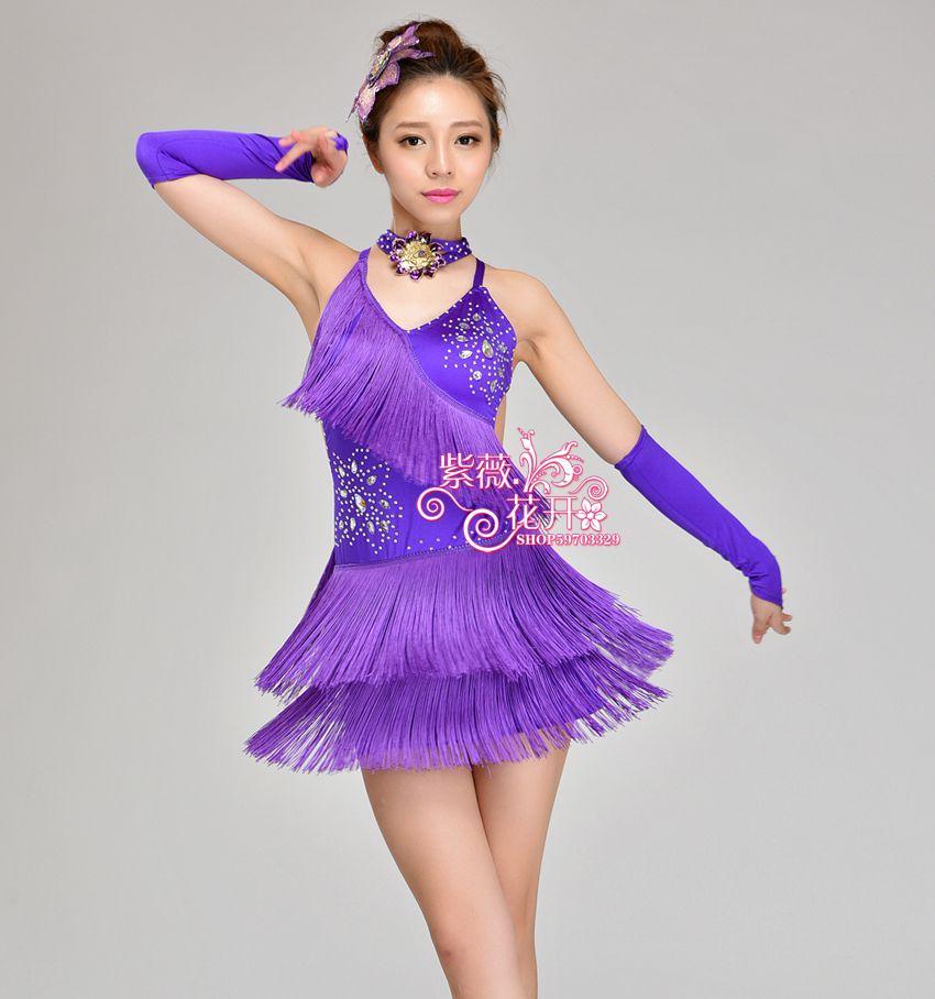 Girl Latin Dance Dresses For Tassel style Cha Cha/Rumba/Samba/Ballroom/Tango Dance Clothing Kids Dance Costume Girls DancewearОдежда и ак�е��уары<br><br><br>Aliexpress
