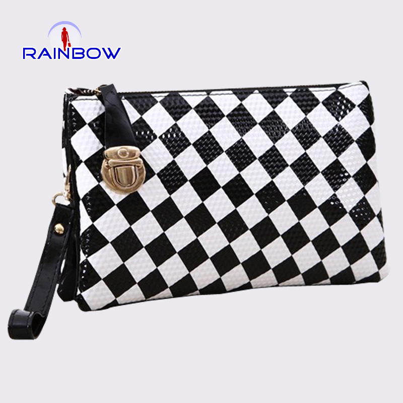 2015 new fashion women envelope bags handbags shoulder bag Day clutch black&white corssbody bags(China (Mainland))