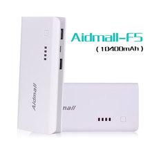 Portable Mobile Power Bank Universal USB External Backup Battery For All Phone Large Capacity 10400mah Aidmall Brand Dropship(China (Mainland))