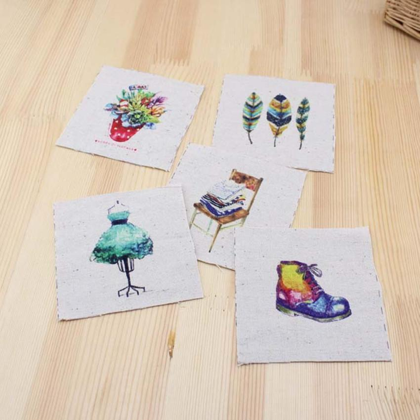 5PCS 9.5*9.5cm Natural Mini Cotton Linen Fabric Tissue Sewing Tilda DIY Patchwork Scrapbooking Quilting Tecido SL49(China (Mainland))
