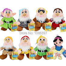 100 sets (8pcs set) Snow White and the Seven Dwarfs Figure plush toys doll For children party Gift(China (Mainland))