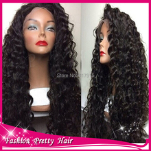Hotsale ! Virgin Brazilian Curly Lace Wig With Baby Hair 180 Density Glueless Lace Front Curly Human Hair Wigs For Black Women(China (Mainland))
