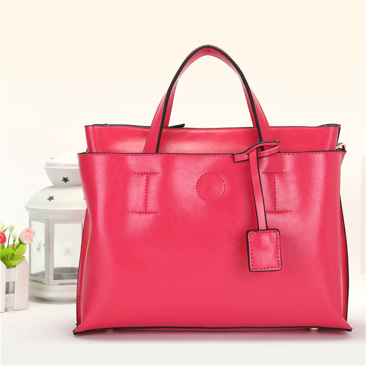 2015 new fashion Genuine leather handbags Womens tote bag candy color shoulder bags - Jessia Fashion International Store store
