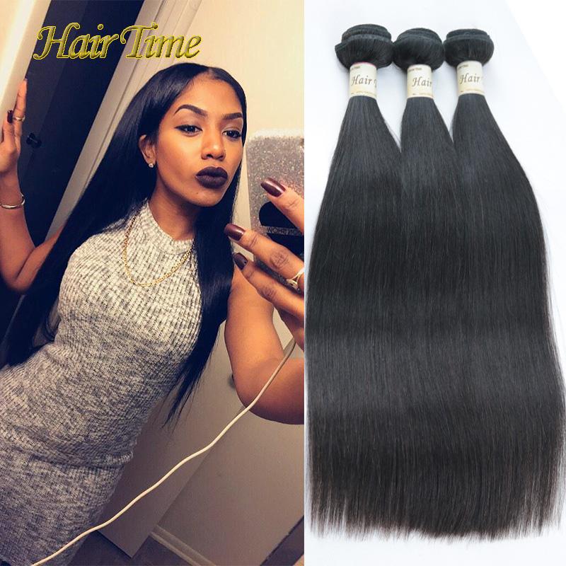 Hair Time Grace Hair Products 6A Grade Brazilian Straight Hair 3pcs lot Cheap Human Hair Weave Brazilian Virgin Hair Straight