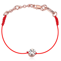 2016 New Fashion Chinese Red String Bracelets National Characteristics 18k Rose Gold Plated Crystal Bracelets For Women Gift *82