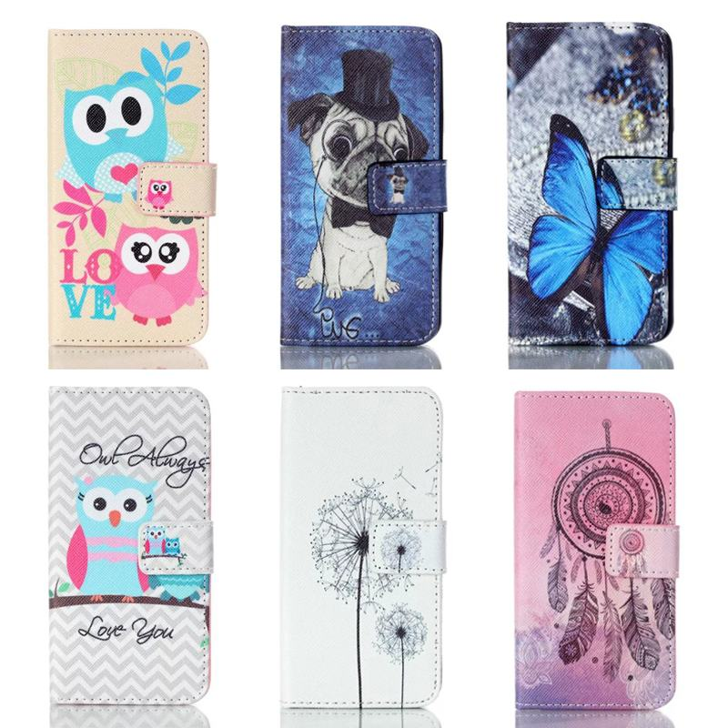 For Samsung Galaxy A3 2016 Case Flip Leather Wallet Magnet Card Slot Phone Case For Samsung Galaxy A3 SM-A310F Case Cartoon OWL(China (Mainland))