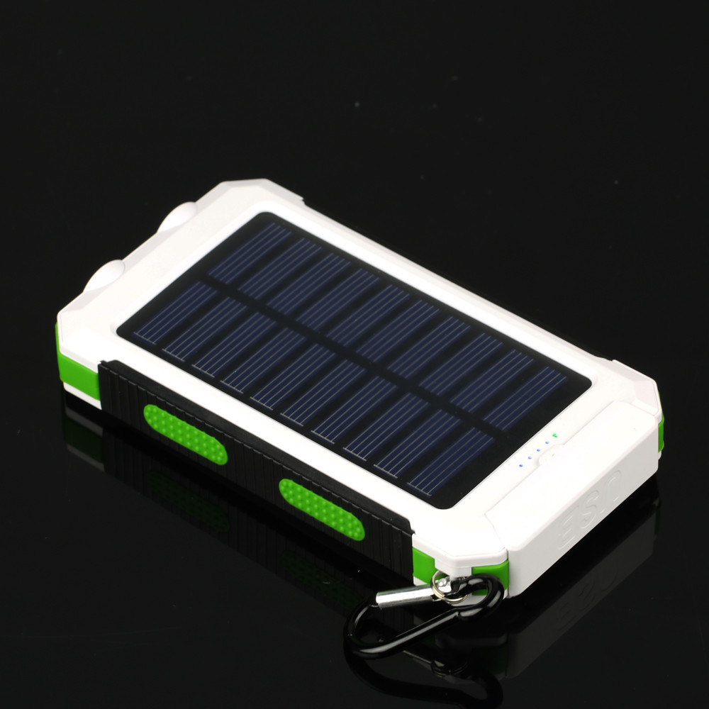 New Solar Power Bank 12000mAh Portable Solar Battery Charger sun charging sun Backup Powers Pack Power bank for mobile phones(China (Mainland))