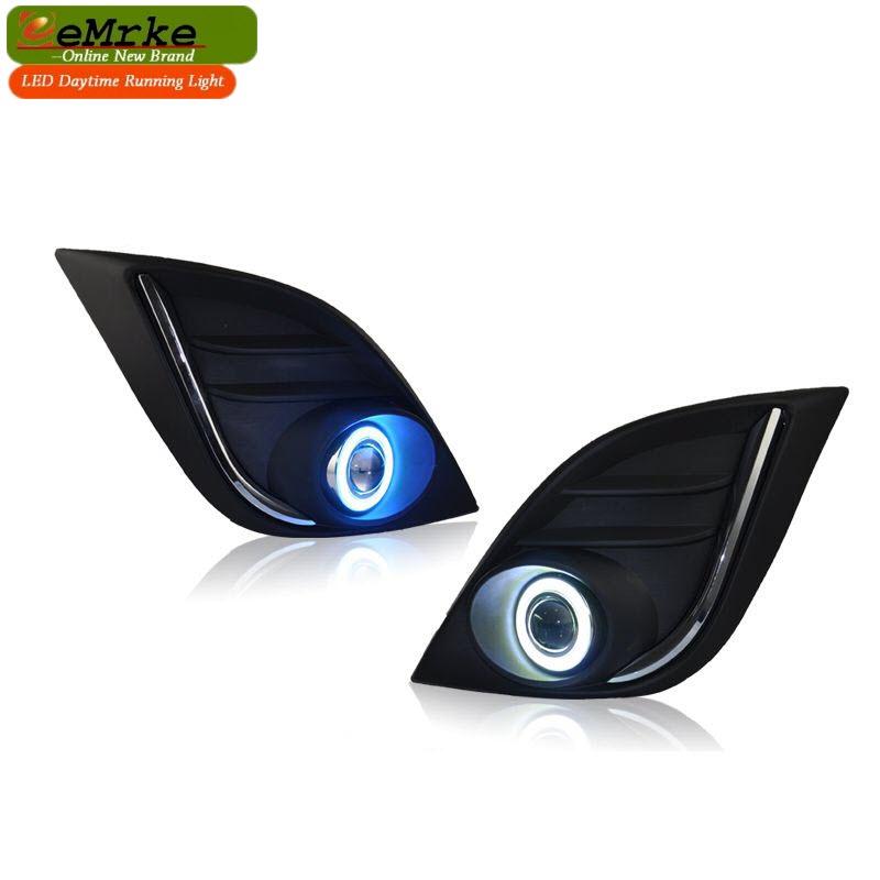eeMrke For Mazda3 S Grand Touring 2008-2013 CCFL Angel Eye DRL Daytime Running Lights Halogen-Bulbs-H11-55W Fog Lamp Kits(China (Mainland))