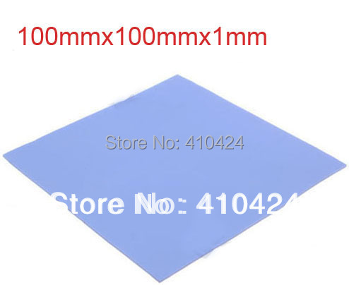 Blue Thermal Pad GPU CPU Heatsink Cooling Conductive Silicone 100mm*100mm*1mm