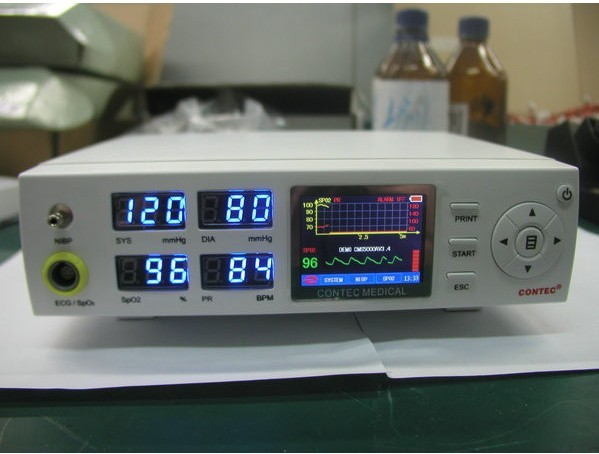 CMS5000 Tabletop Blood Pressure Oximeter SPO2 Pulse Rate Vital Signs Patient Monitor Multiparameter Monitor(China (Mainland))