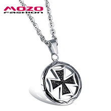 2016 New fashion jewelry hot Sale tide male stainless steel Black cross pendant necklace creative gift boutique for men MGX1015(China (Mainland))