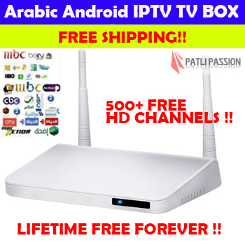 FREE SHIPPING Arabic IPTV box android TV No Annual Fee, BeIN Sports MBC OSN African French Canal KODI XMBC better than MXQ QhdTV(China (Mainland))