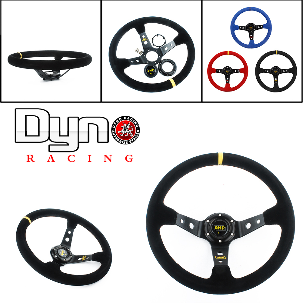 Dyno car racing OMP steering wheel kit most car 14inch 350mm Deep Corn Drifting auto Steering Wheels / Suede Leather(China (Mainland))