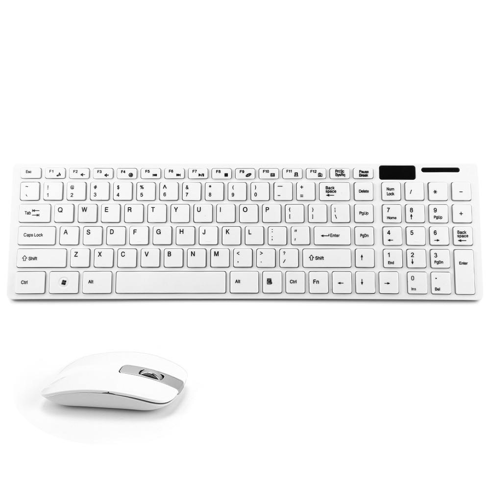 New Brand JK - 906 2.4G Optical Wireless Keyboard and Mouse Combo Kit with USB Receiver White Color Fashion Design for Office(China (Mainland))