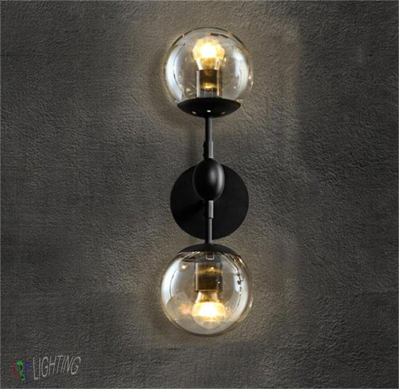 Glass Ball Wall Lights : Modern Magie Glass Ball Wall Lamps Vintage Wall Lights Bedroom Bedside Wall Socnces Light ...