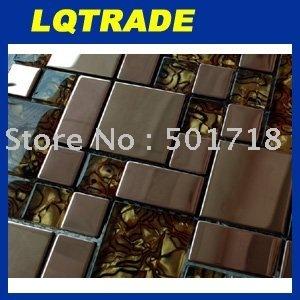 Stainless steel, golden rose Metal Mosaic 300*300mm*8mm  Model: ZBX-01