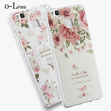 Soft TPU 3D Relief Painting Stereo Feeling Back Cover Case Huawei P9 Lite G9 Phone Bag Coque - OnLines 3C store