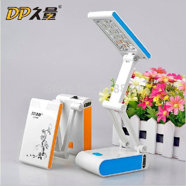 LED Folding Rechargeable Charging LED Table Lamp Table Light With 14 LED Lights,Orange(China (Mainland))