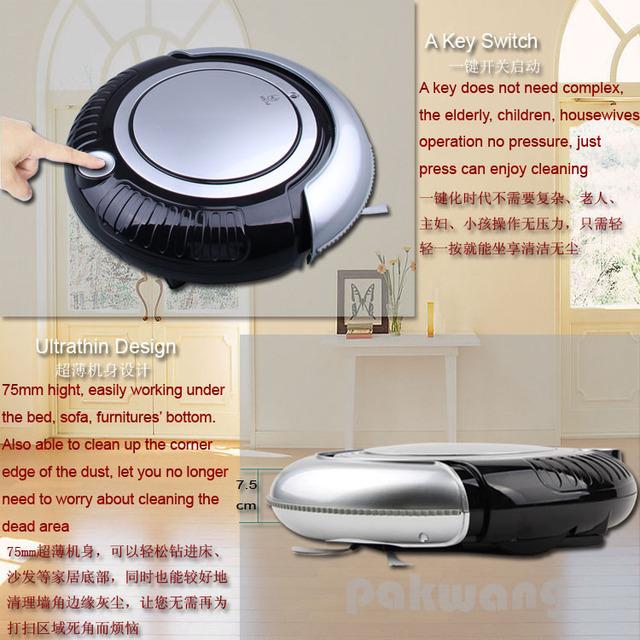 Fully Automatic, Dry Intelligent  SQ-K6L Mini automatic Vacuum Cleaner