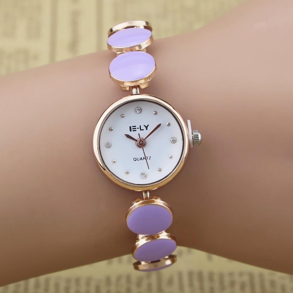 100pcs/lot E-LY-001 fashion lady bracelet watch wrap quartz dress crystal wristwatch wholesale rose gold case elegance watch(China (Mainland))