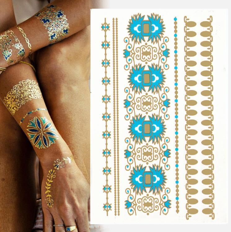 1pcs [799 designs] High Quality flash tattoo sticker henna tatoo flash temporary tattoo summer style gold tatoo Promotion cheap!(China (Mainland))