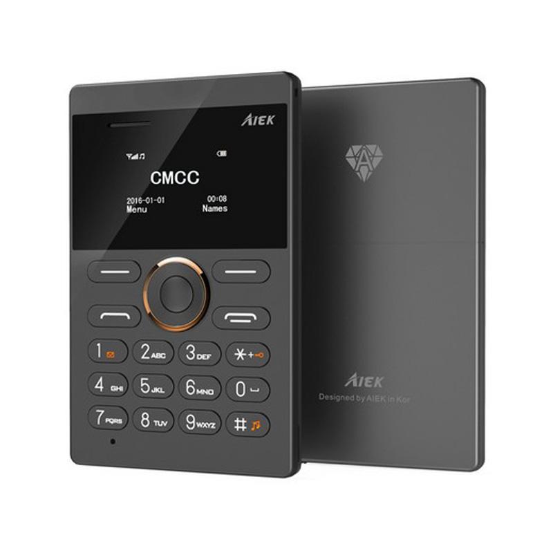 New arrival Ultra Thin AIEK/AEKU E1 Mini Cell Card Phone Student unlocked Mobile Phone Pocket Phone Low Radiation Multi Language(China (Mainland))