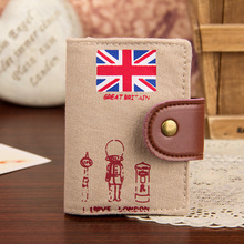 PY080 Canvas Card Id holder Women Men travel Bank Visiting Calling Business Bookmark credit Wallets Purse