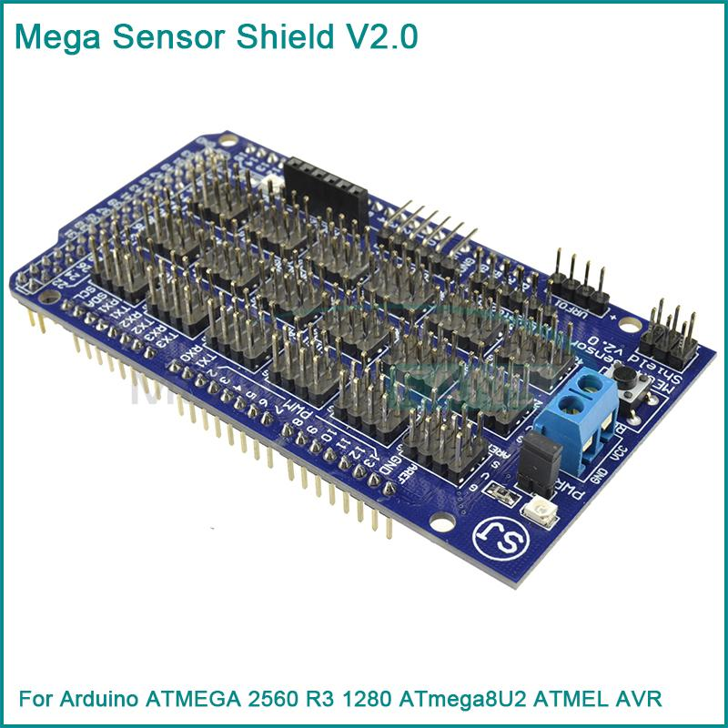 Mega Sensor Shield V2.0 V2 For Arduino ATMEGA 2560 R3 1280 ATmega8U2 ATMEL AVR(China (Mainland))