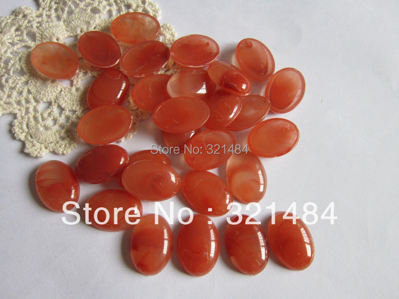 acrylic 1000piece red orange 18*25mm flatback resin oval dome tile seals cameo cabochon for blanks jewelry make(China (Mainland))
