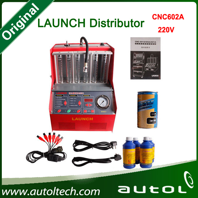 [LAUNCH Distributor] 2015 100% Launch CNC-602A CNC602A injector cleaner and tester 220V With English Panel Free shipping(China (Mainland))