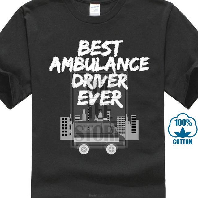 AWESOME AMBULANCE DRIVER  T SHIRT XMAS GIFT PRESENT paramedic first aider