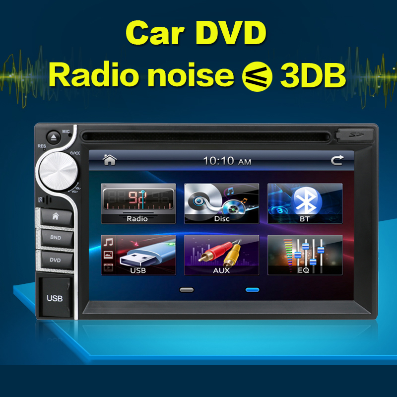 """Digital Double 2 Din 6.2"""" Touch Screen Car DVD Player USB/SD BT Radio IN-DASH Radio Stereo Free Backup Camera Without GPS(China (Mainland))"""