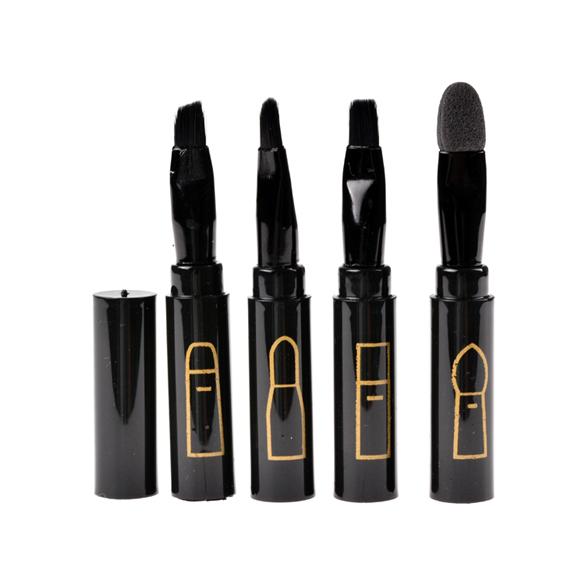 2015 New Practical Multi-function 4in1 Makeup Brushes Cosmetic Eyebrow Eyeshadow Lip Make Up Brushes Set Kit Tool 51(China (Mainland))